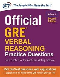 Official GRE Verbal Reasoning Practice Questions, Second Edition, Volume 1 (Paperback, 2)