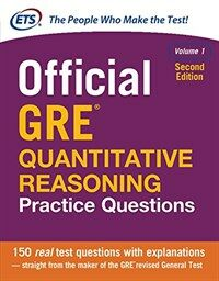 Official GRE Quantitative Reasoning Practice Questions, Second Edition, Volume 1 (Paperback, 2)