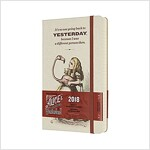 Moleskine Limited Edition Alice in Wonderland, 12 Month Daily Planner, Large, Almond White (5 X 8.25) (Desk)