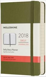 Moleskine 12 Month Daily Planner, Pocket, ELM Green, Hard Cover (3.5 X 5.5) (Desk)