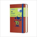 Moleskine Limited Edition Peanuts, 12 Month Daily Planner, Pocket, Coral Orange (3.5 X 5.5) (Desk)