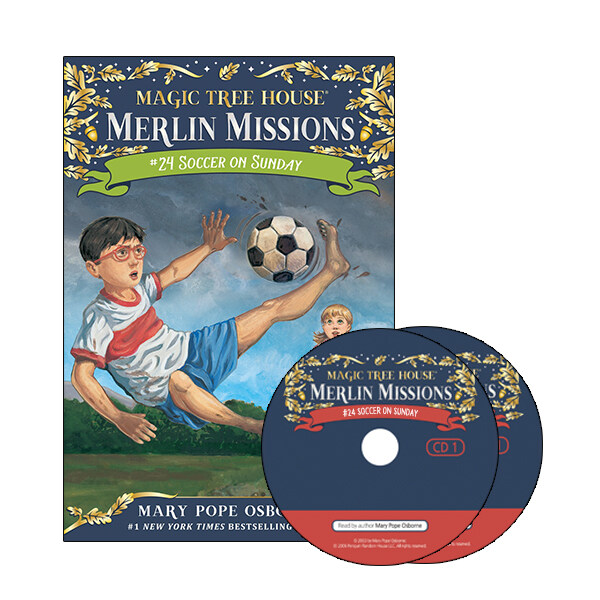 Merlin Mission #24 : Soccer on Sunday (Paperback + CD )