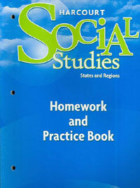 Harcourt Social Studies: Homework and Practice Book Student Edition Grade 4 States and Regions (Paperback)