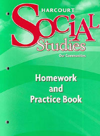Harcourt Social Studies: Homework and Practice Book Student Edition Grade 3 (Paperback)
