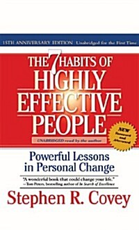 The 7 Habits of Highly Effective People (Audio CD, 15th, Unabridged, Anniversary)