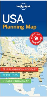 Lonely Planet USA Planning Map (Folded)