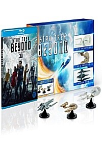 [3D 블루레이] 스타트렉 비욘드 : 3-Ship 한정판 콤보팩 (2disc: 3D+2D)