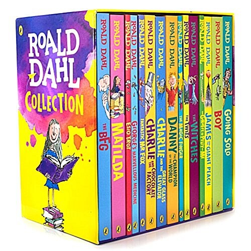 로알드달 베스트 15종 박스 세트 Roald Dahl Collection Boxed Set (15 Paperback, 영국판, NEW edition)