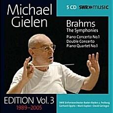 [수입] 미하엘 길렌 에디션 3집 - 브람스 : 교향곡 전곡, 피아노 협주곡 1번, 이중 협주곡, 피아노 4중주(쇤베르그 편곡판) [5CD for 2]
