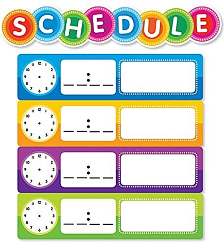 Color Your Classroom: Schedule Mini Bulletin Board (Other)