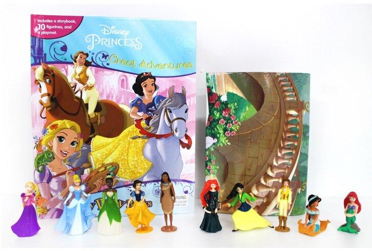 My Busy Book : Disney Princess Great Adventures 디즈니 프린세스 그레이트 어드벤처 비지북 (미니피규어 10개 + 놀이판)